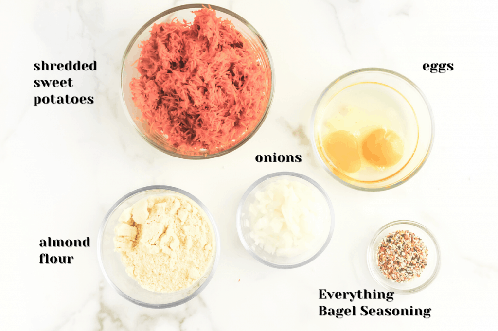 ingredients for sweet potato hash browns
