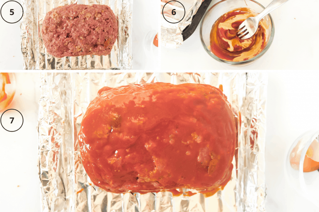 steps for making homemade meatloaf with ketchup glaze