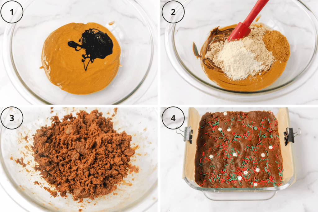 ingredients to make homemade perfect bars with gingerbread flavor