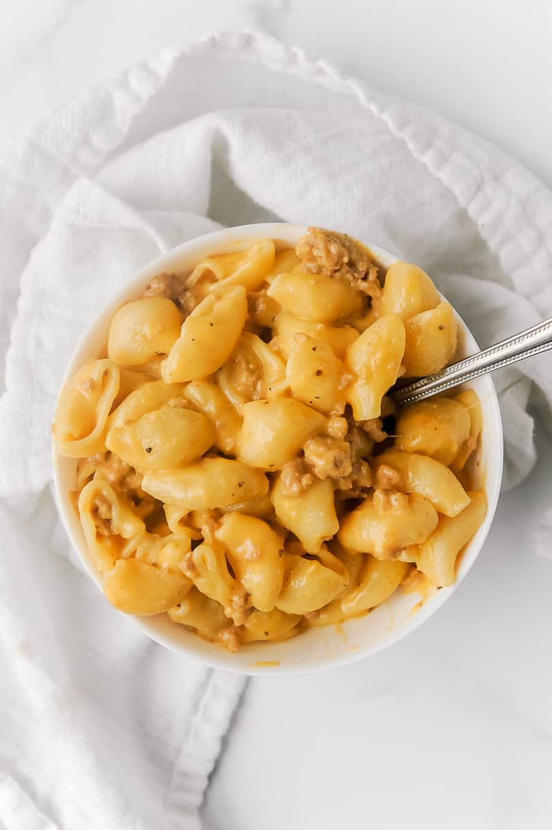 homemade healthy cheeseburger macaroni