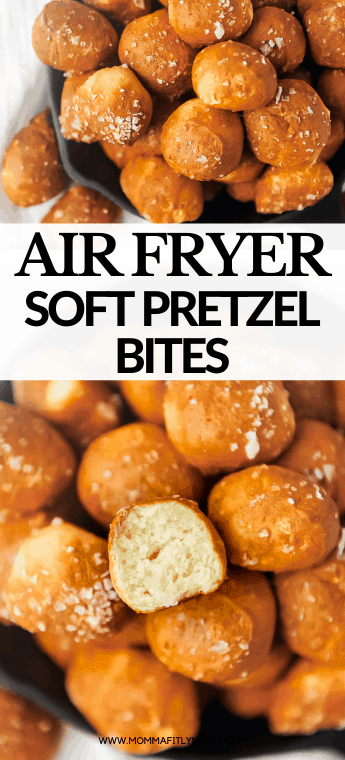 Air Fryer Pretzel Bites made with simple ingredients taste just like your favorite mall soft pretzel! The perfect after school, game day or party snack, these soft pretzel bites are easy and oh so delicious! Easy soft pretzel bites recipe - check out the video!