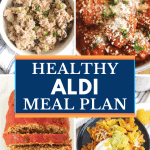 This Aldi meal plan gives you 5 days of healthy family meals your family will love. Get your free printable shopping list for my Aldi healthy meal plan. Cheap and healthy aldi meal plan for families or can be adapted for two or for one - great for clean eating diet!