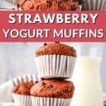 strawberry yogurt muffins