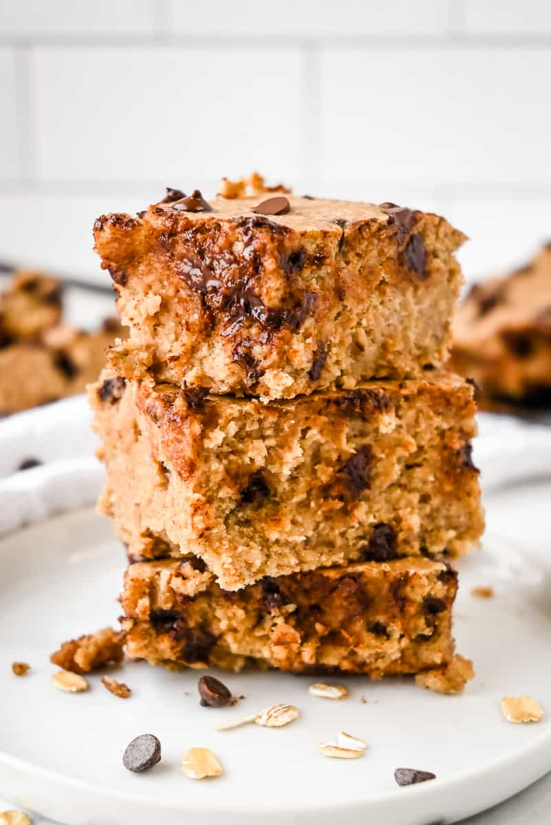 stack of protein baked oatmeal