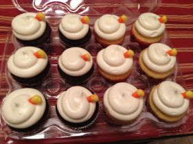 candycorn cupcakes