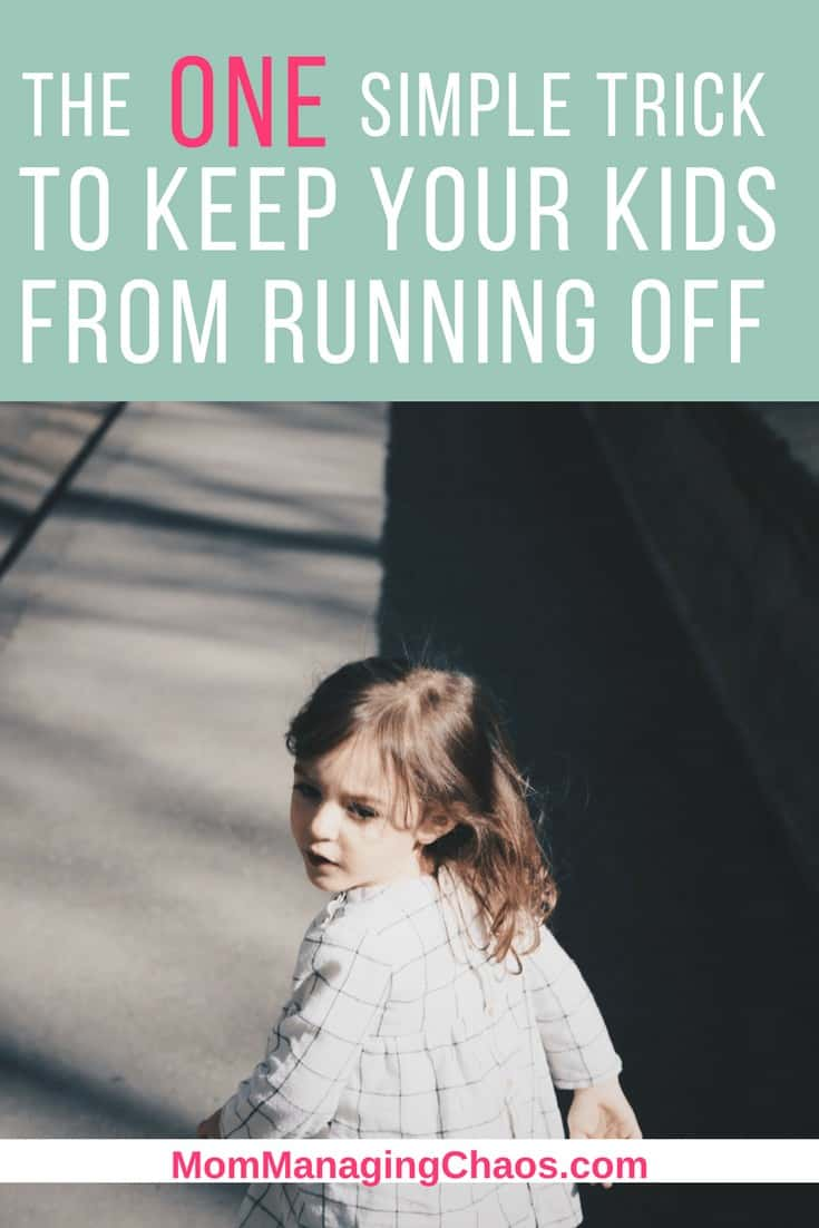 stop kids from running off