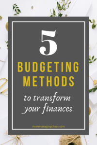 5 Budgeting Methods