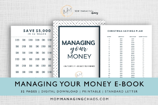 managing your money budgeting workbook