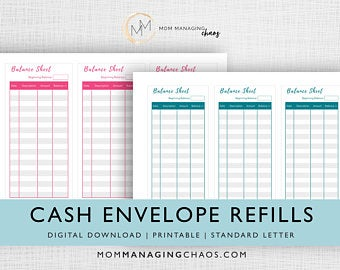 cash envelope refills