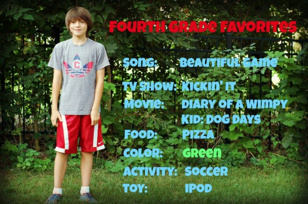 fourth grade favorites 2013