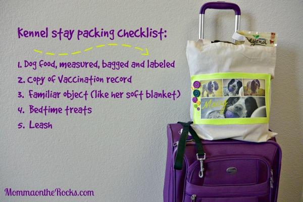 Kennel packing checklist