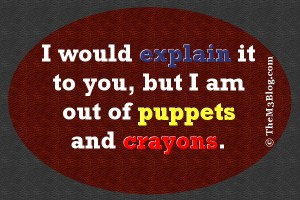 meme crayons and puppets
