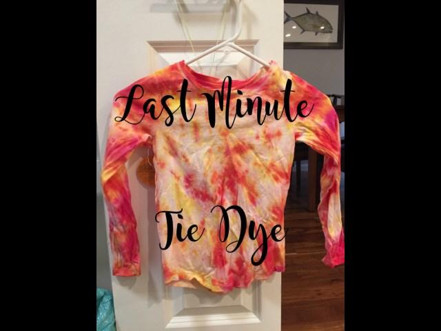 Last Minute Tie Dye Easy Minimalist DIY