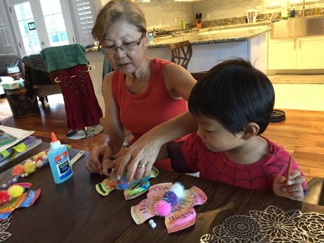 Making kids DIY butterfly