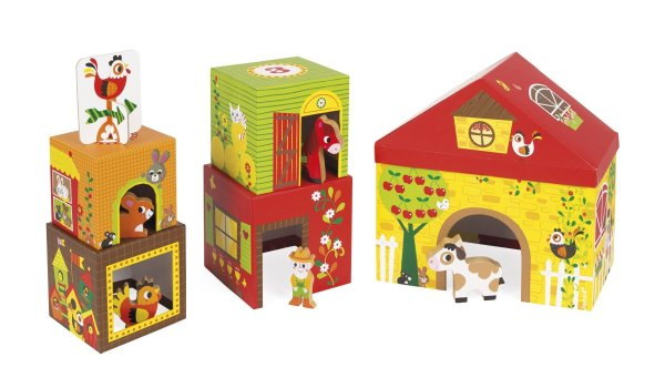 מגדלים משחק דמויות וקוביות חווה - Mom & Me