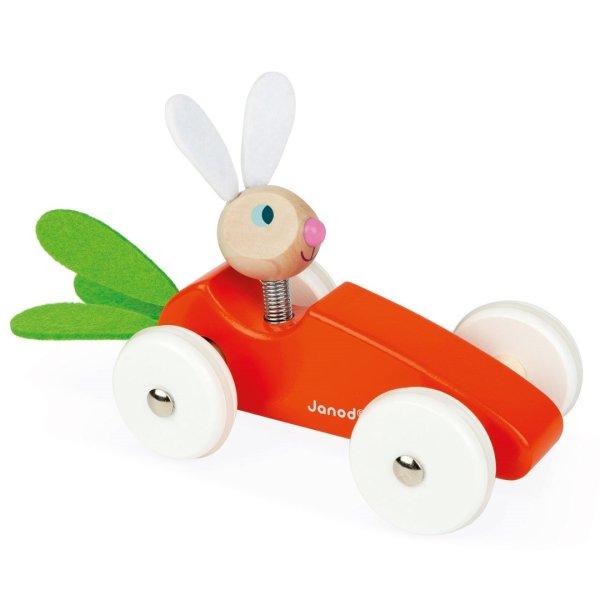 משחקי עץ מכונית עץ גזר לארנב - Mom & Me
