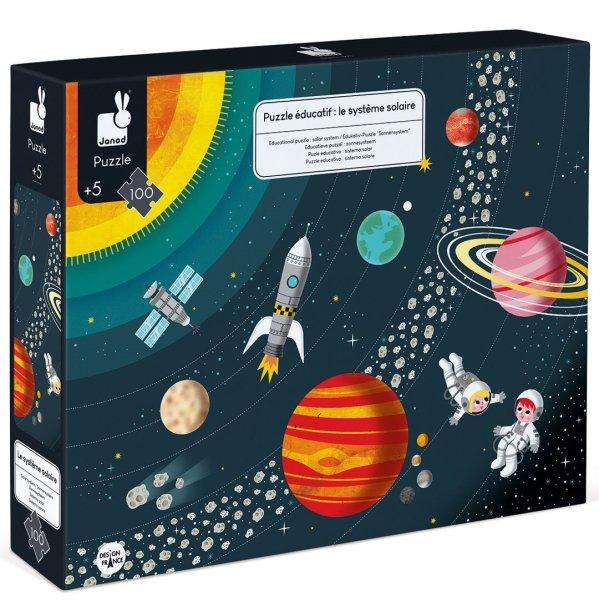 פאזלים פאזל חינוכי - מערכת השמש 100 חלקים - Mom & Me