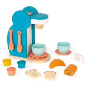 משחקי עץ צעצועי עץ - מכונת קפה וארוחת בוקר - Mom & Me