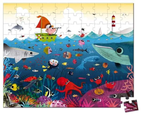 צעצועים פאזל 100 חלקים - עולם הים - Mom & Me