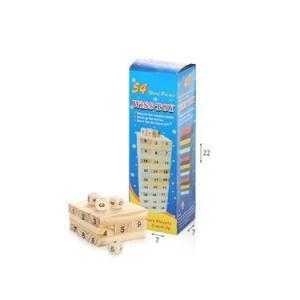 משחקי חשיבה וקלפים קפלה עץ 54 חלקים בקופסא - Mom & Me