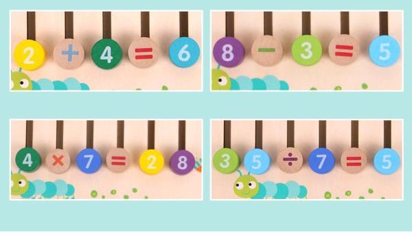 משחק עץ לפיתוח חישובים מתמטים לילדים בשיטת מונטסורי - Mom & Me