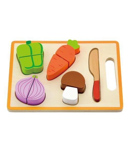 מוצרי עץ משטח חיתוך ירקות מעץ - מונטסורי - Mom & Me