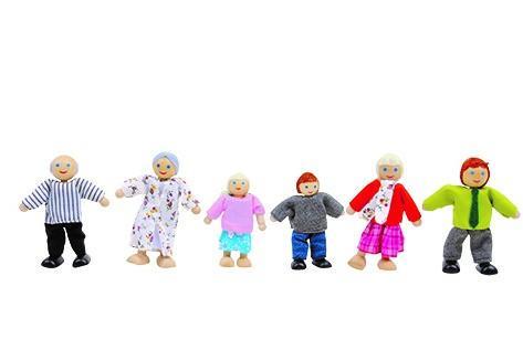 מוצרי עץ שישיית בובות אצבע מעץ - מונטסורי - Mom & Me