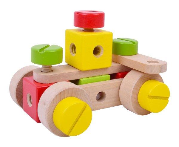 מוצרי עץ הרכבה אום בורג מעץ - מונטסורי - Mom & Me