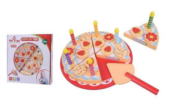 מוצרי עץ עוגת יום הולדת מעץ - מונטסורי - Mom & Me