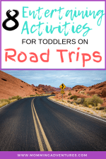 8 Ways to entertain your toddler on car rides.