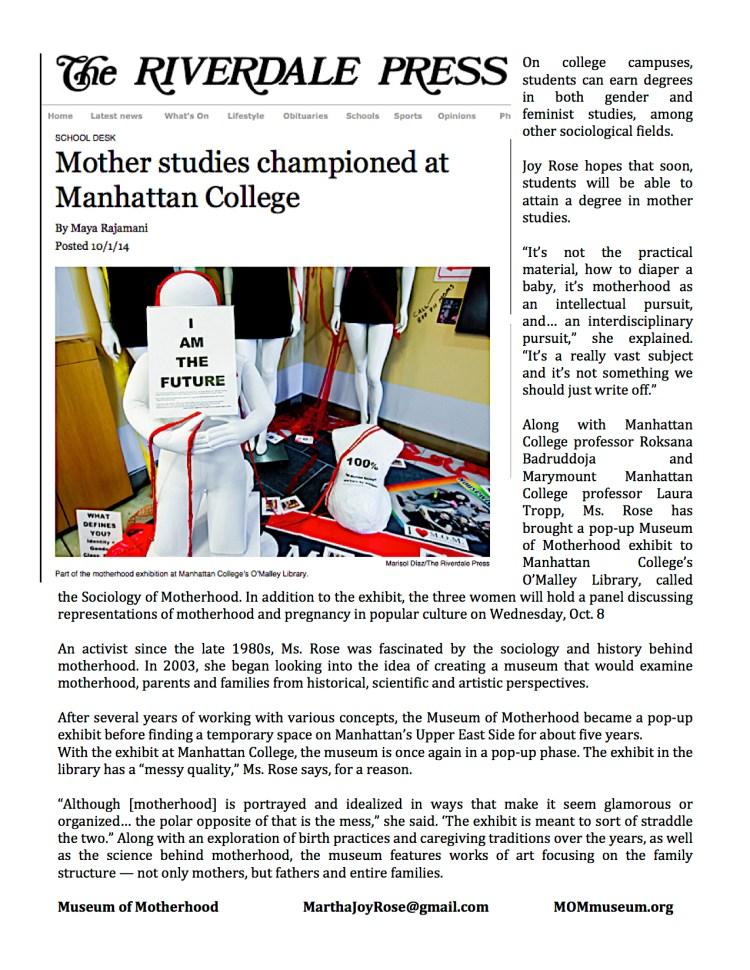 Riverdale_Press_Article