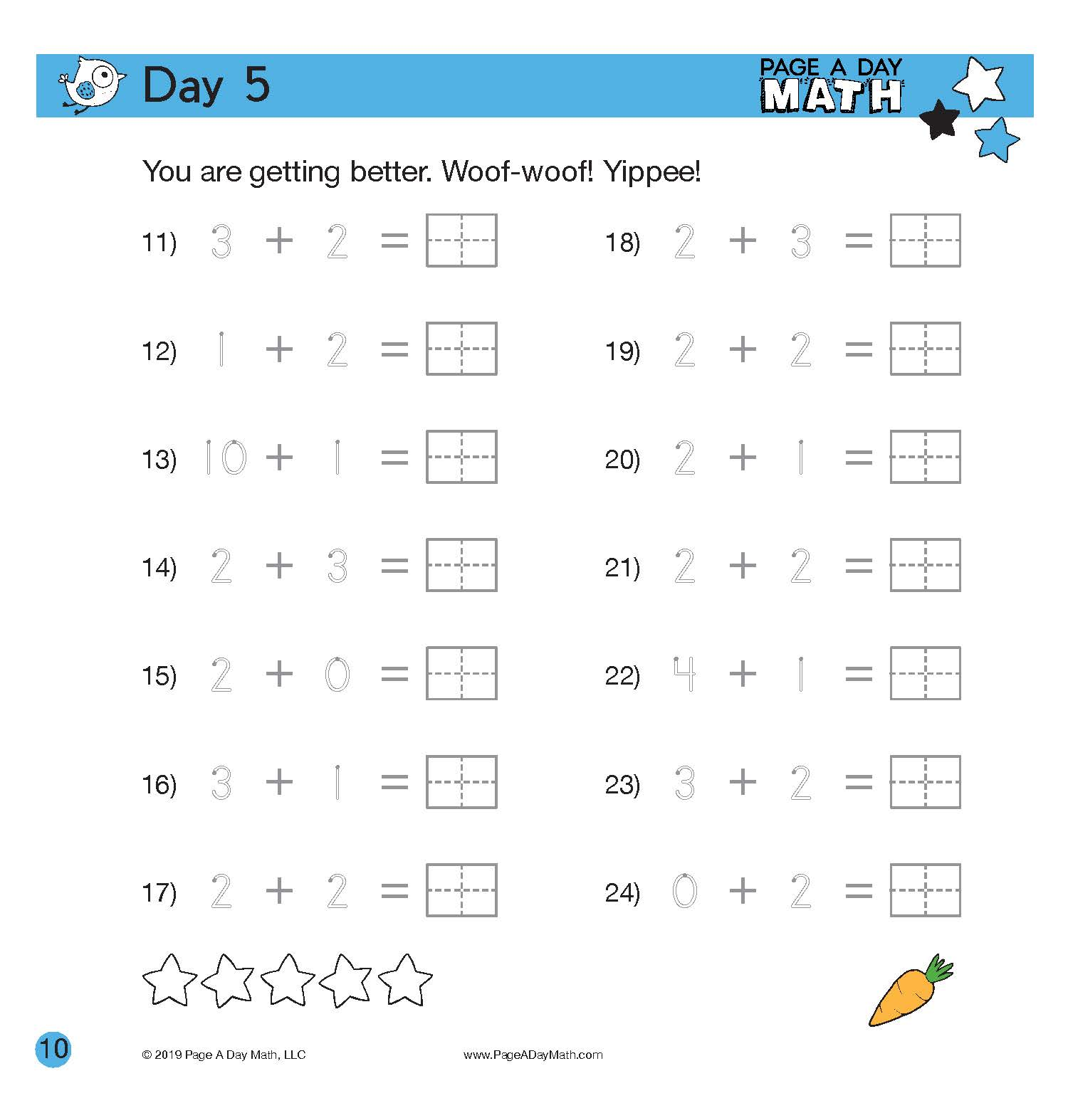 Daily Math Reinforcement With Page A Day Math