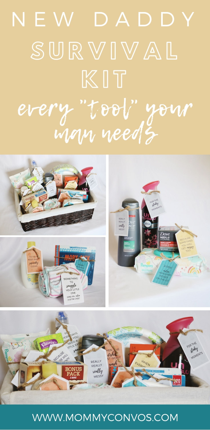 new daddy survival kit, new parents, gifts for new mommies, gifts for new moms, baby gift ideas, baby shower gifts, what to get an expecting mom, baby shower ideas, planning a baby shower, new parents, what to get a new parent, parenting, baby gifts, fabreeze, baby necessities, dove body wash, dinner ideas, quick dinner ideas, what to buy for a baby
