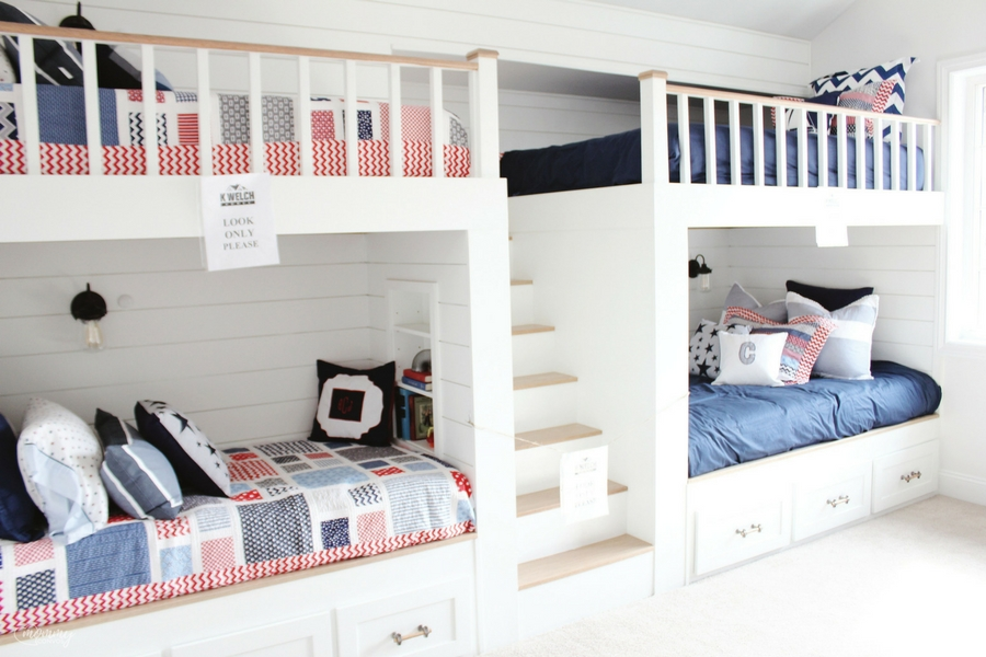 crib-sized mattress in bunk beds