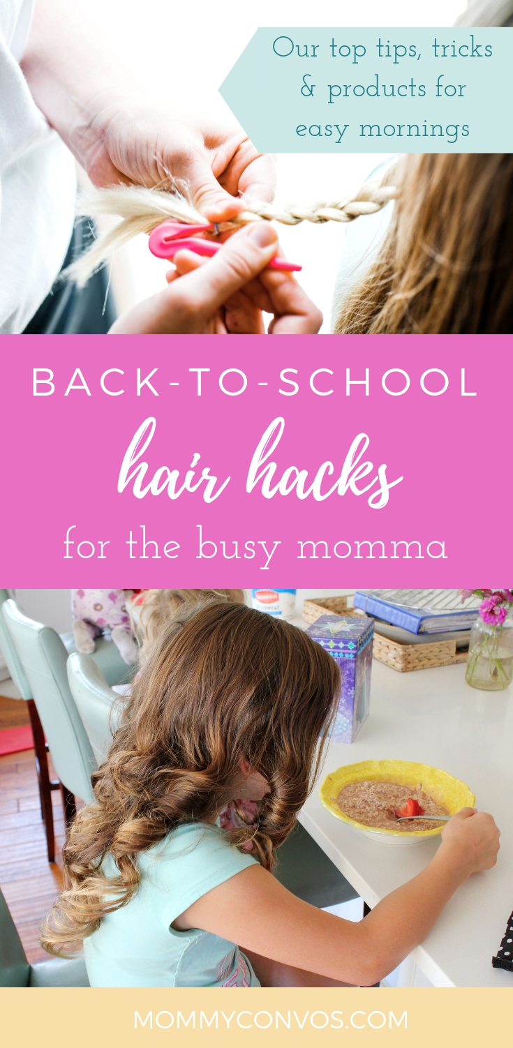 Kids hair hacks for busy mommies. Hair tips and tricks. favorite hair products. hair hacks. kids hair tips and tricks. flairosol spray bottle. pony pic. gabby bows. hair accessory storage. conair combs. conair tips and tricks