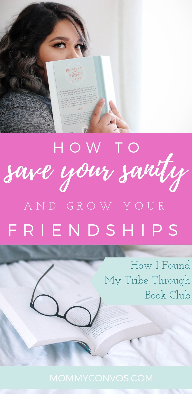 Save your sanity and grow your friendships. How I found my tribe through bookclub. Find your tribe and recharge your exhausted mama-batteries girl. Join a book club.