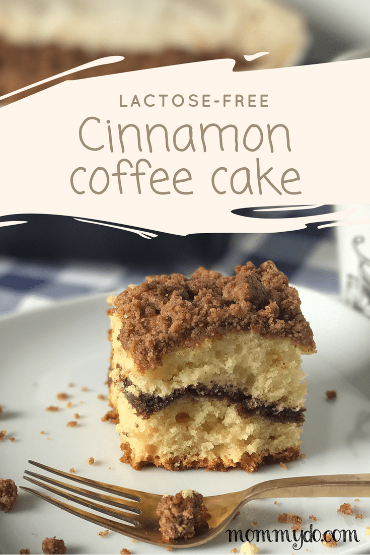 mommydo.com || cinnamon coffee cake with extra crumble