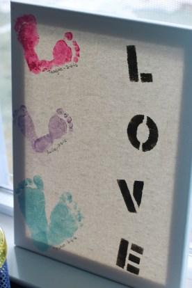 Foot print Love art.