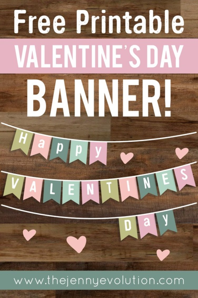 Valentine Home Decor Banner - FREE Printable!