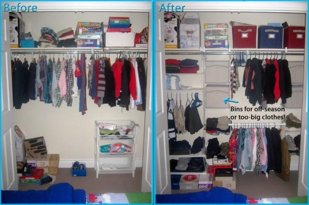 Rubbermaid Closet Helper (before & after)