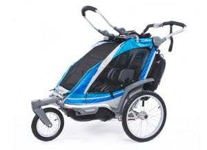 Chariot blue coloured bike trailer