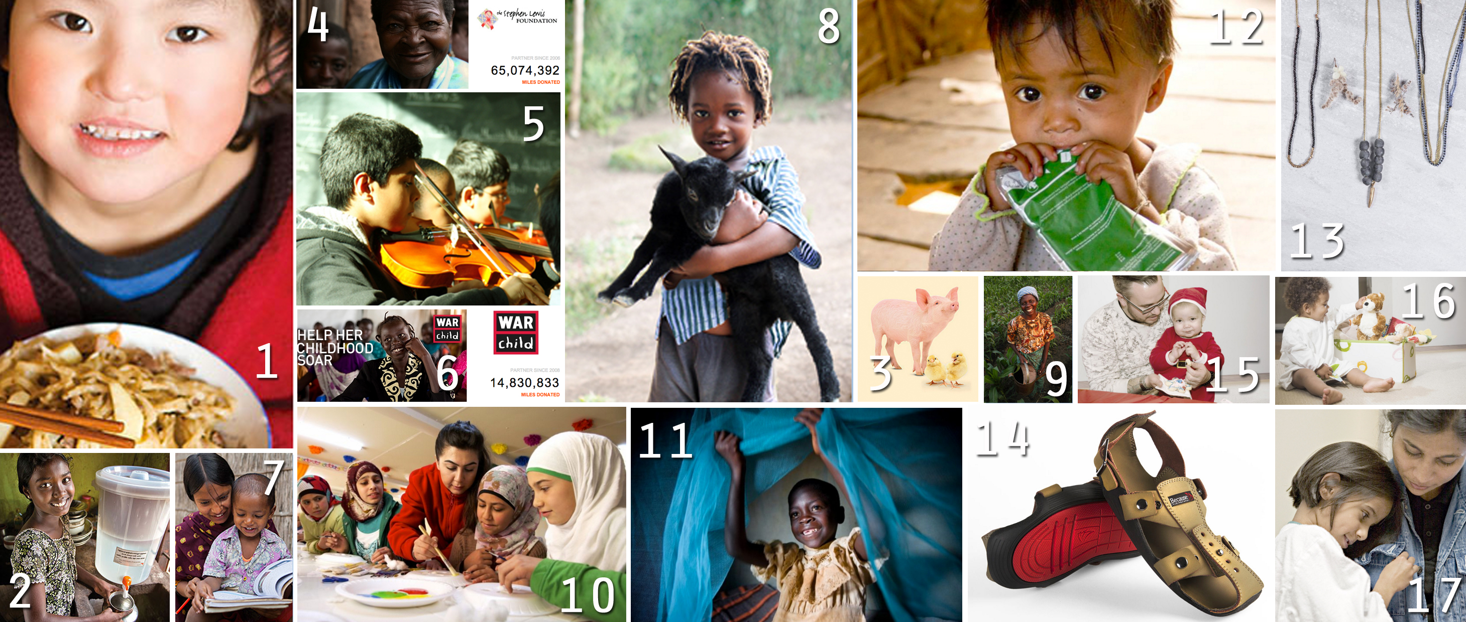 Top 20 charitable holiday gifts (2015)