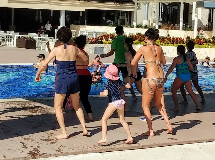 Exercising at Royalton Cancun