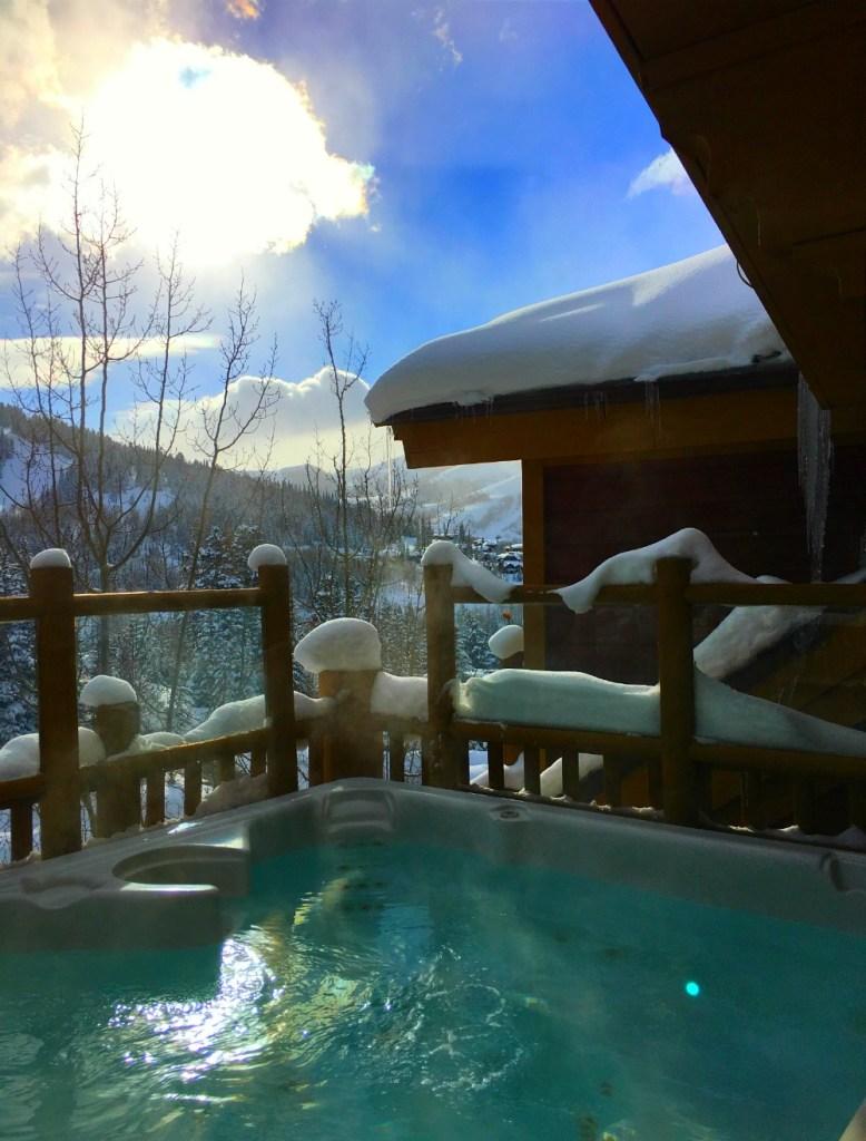 hot tub apres ski in deer valley