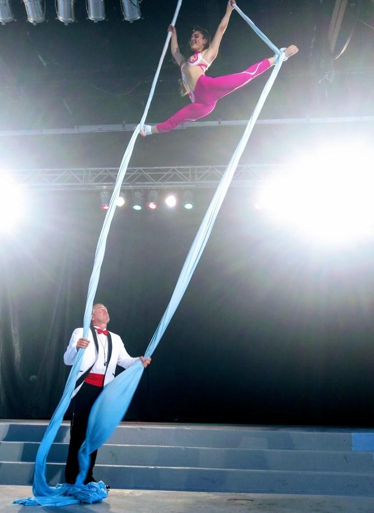 Aerial silks at Ultimate Thrills Circus, Canada's Wonderland.