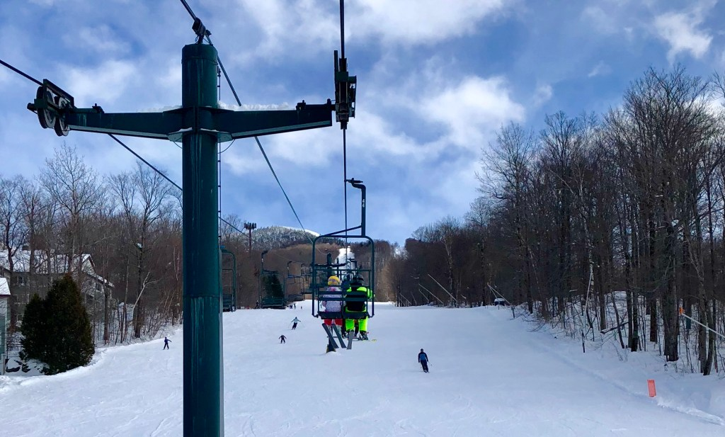 Morse Mountain chair lift at Smugglers' Notch
