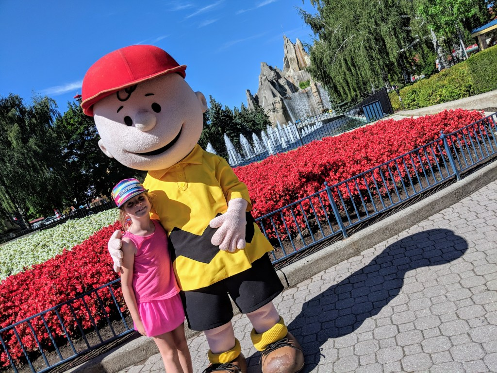 Pictures with characters at Canada's Wonderland