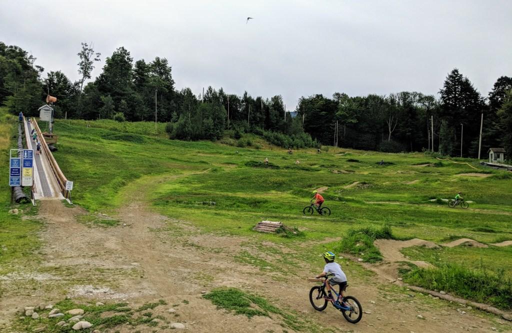 Mountain biking trails Smugglers Notch