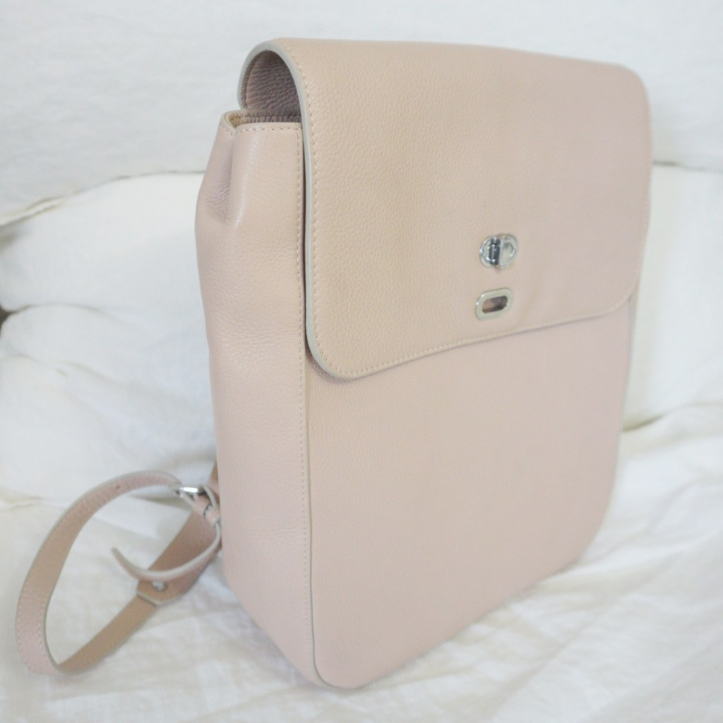 ecco leather laptop backpack