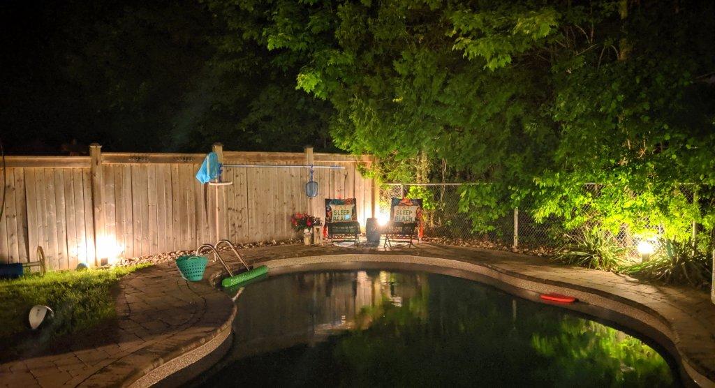 best backyard lighting